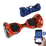 Gooplayer X1L10-UL2272 Certified Hoverboard-10 Inch Electric Self-Balancing Scooter with Bluetooth (Fire)