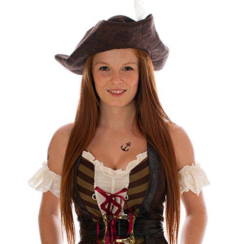 10 x Anchor mini Tattoos - Sailor Temporary Tattoo - Carnival Pirates (Pirate Costum)