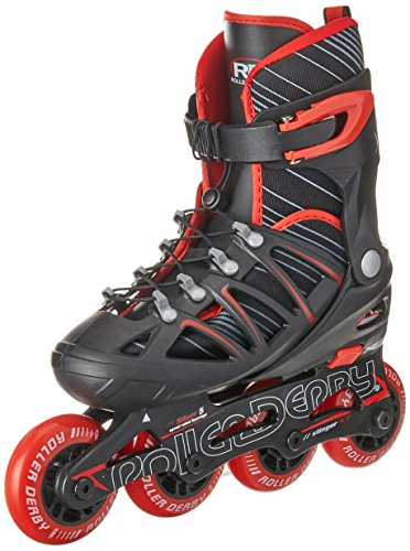 Roller Derby Boy's Stinger 2-5 Adjustable Inline Skate, Medium (Boys In Line Skates)