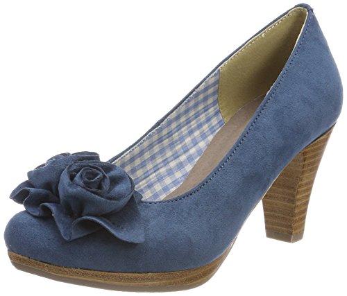 Escarpins Bout Conti Femme Jean 3000518 Bleu Fermé Andrea qSw4w