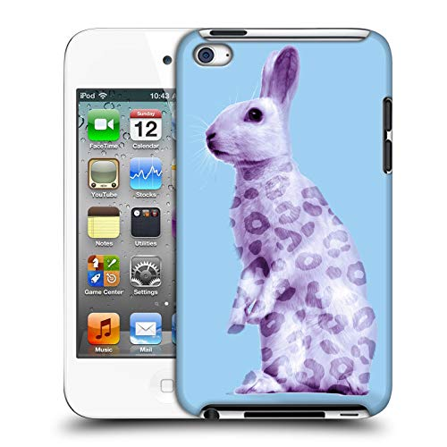 Official Mark Ashkenazi Bunny Pastel Potraits Hard Back Case Compatible for Apple iPod Touch 4G 4th Gen (Bunny Case Ipod 4)