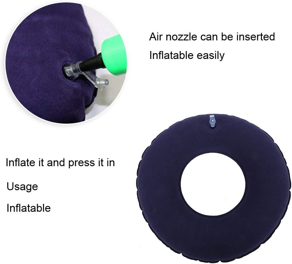 cuscino per ciambella originale cuscino per morbido gonfiabile cuscino per emorroidi con colore per sedie a rotelle Qkiss per paziente costretto a letto e antidecubito R120