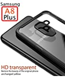 Mobistyle - Shockproof Ultra Thin Clear Shell All Side Protection Back Case Cover for Samsung A8 Plus (Shockproof Black)