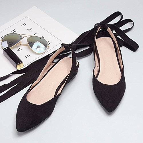 Verano nuevo sandalias planas mujer hueco inferior moda calzado mujer venda Lady Muller zapato Black