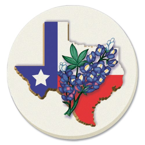 CounterArt State of Texas with Blue Bonnet Absorbent Coasters, Set of 4