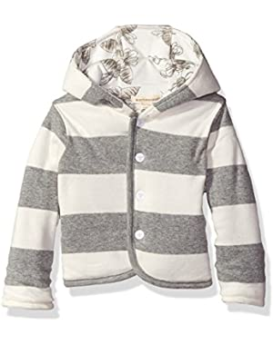 Girls' Organic Reversible Snap Front Jacket