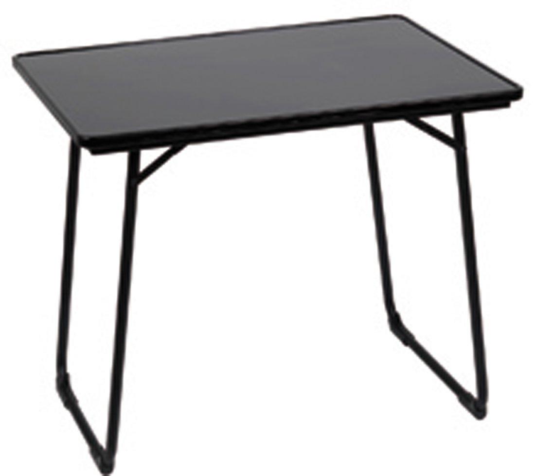 Lafuma Table de camping - structure aluminium - Pliable et rÉglable - 80x57 cm - Couleur : Noir - Fidji - LFM24240669