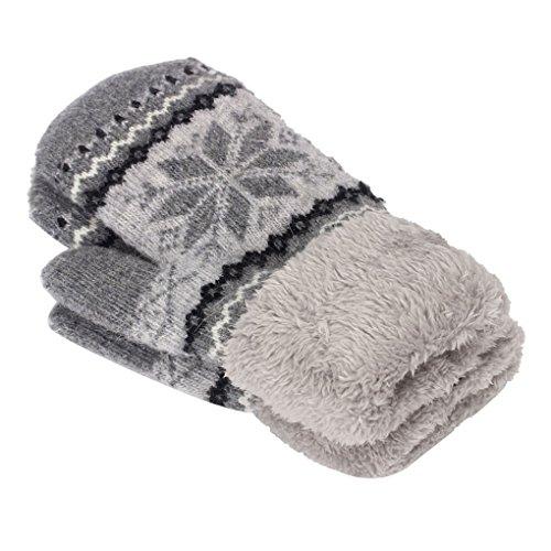 Clearance!Women Gloves,Haoricu Fashion Autumn Winter Snow Outdoor Sport Warm Women's Gloves (Grey)