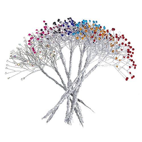 Weichan Decor Crystal Rhinestone Spray Branch 7-1/2-Inch 12-Count ()
