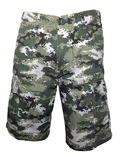 Ranger Return Men's Subdued Urban Digital Camo Military BDU Shorts Vintage ACU Ranger (Vintage Khaki Fatigue Cap)