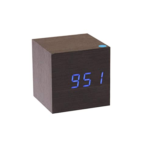 Reloj Despertador Digital Reloj De Madera Reloj Despertador Digital LED, Pantalla De Temperatura, Control