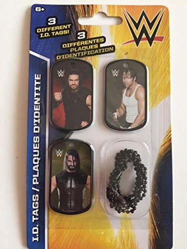 WWE ID Dog Tags With Chain Series 2 - Set P - 3 Count by Greenbrier