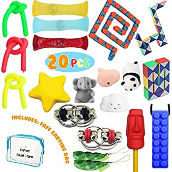 Amazon Com Fidget Toys Set 20 Pcs Sensory Tools Bundle