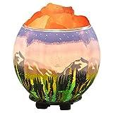 Himalayan CrystalLitez,Natural Himalayan Salt Lamp in A Handcrafted and Unique Artisan Bowl,Natural Air Purifier and Aromatherapy Salt Lamp (Space-Galaxy)