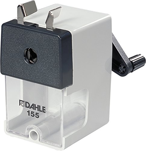 Dahle 155 Professional Pencil Sharpener w/Point Adjuster & Automatic Cutting System, Accepts Graphite & Oversized...