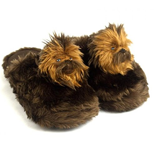 Star Wars Movie Chewbacca Character Warm Bedroom Footwear Scuff Slippers LG