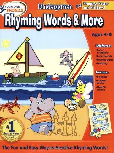 (Hooked on Phonics Kindergarten Rhyming Words & More Workbook)