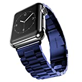 Apple Watch band, VIPPLUS iWatch band Stainless Steel Strap Wrist Bands Replacement with Durable Folding Metal Clasp for Apple Watches