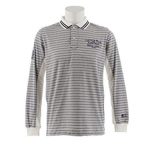 カッター&バック メンズ ゴルフウェア ポロシャツ 長袖 袖下メッシュ長袖シャツ CGMLJB00 NV00 M