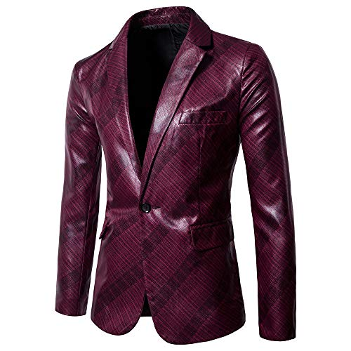 Clearance!Charm Men's Casual One Button Fit Suit Blazer