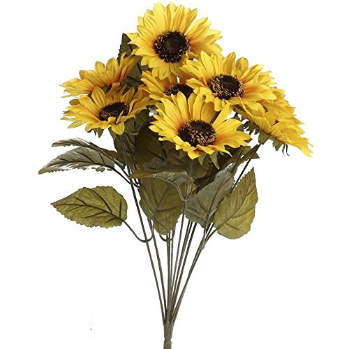 Factory Direct Craft Artificial Autumn Yellow Sunflower Floral Bush for Embellishing Home and Holiday Crafts and -