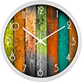 ASIBG Home Large Wall Clock Home Office Decor,12 Inches,White