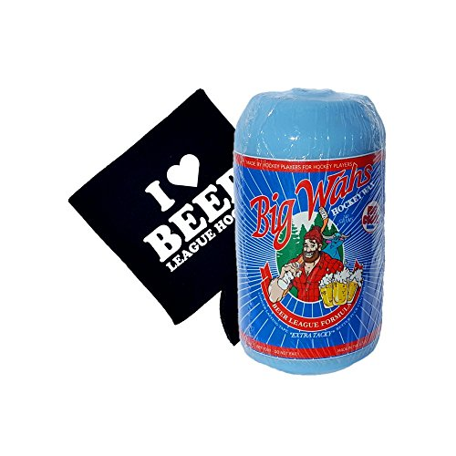 (Big Wah's Beer Leaguer Hockey Stick Wax With Coozie )