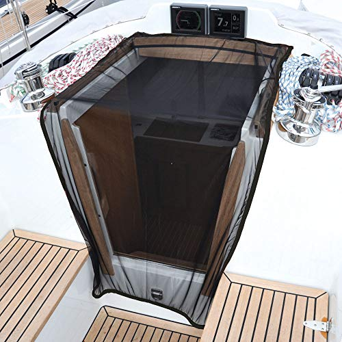 Waterline Design Mosquito NET/Bug Screen Cover The companionway, Stays in Place with a Weight Band. Universal Size for sail- and motorboats.(#1460). ()