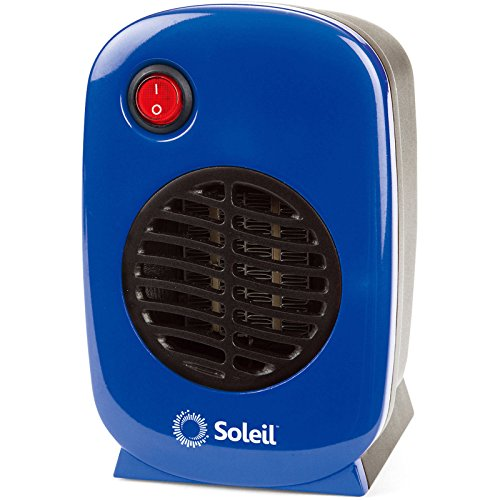 Personal, Portable Electric Ceramic Space Heater, 250 Watt MH-01 (Blue) by Soleil