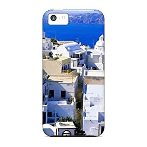 Awesome Design Santorini Greece Hard Case Cover For Iphone 5c