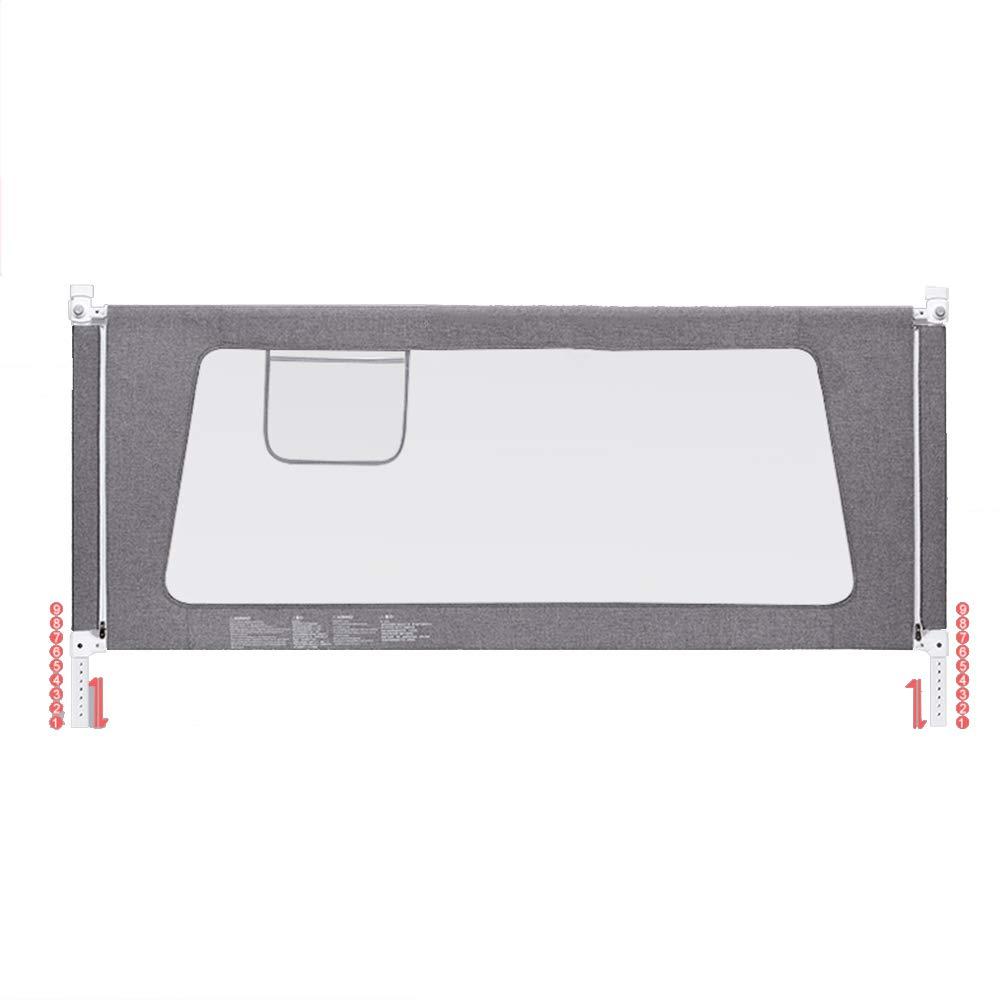 LHA ベッドガードフェンス 縦型リフト子供用ベッドガードレール、ベッドサイドガードレール折り畳み式ベビーフェンス150/180 / 200cm (色 : Gray, サイズ さいず : L-220cm) L-220cm Gray B07L3CYP5S