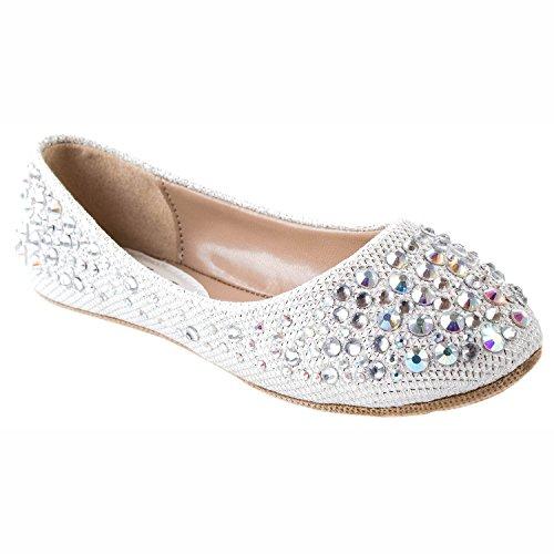 Link Larisa-39K Girls Kids Ballet Flats (4, White)
