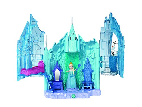 Disney Frozen Small Doll Elsa and Magical Lights Palace Playset ()