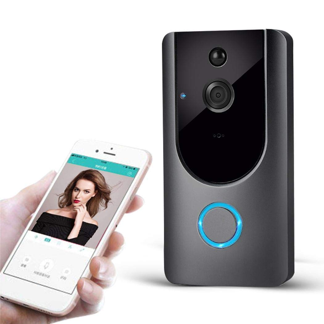 Zuionk M2 Wireless Visual Smart Türklingel Alarm WiFi Handy Fernüberwachung Türklingeln & Türglocken