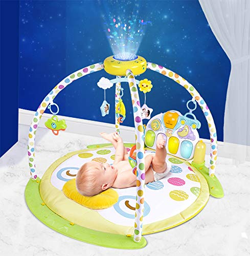 Teodore Playmat for Infant, Baby Play Mat, Tummy Time Mat for Playing, Crawling, Floor Playmats Gym Activity Center with Toys Pillow Piano Projector Mobile for Infants Care Newborn Boy and Girl Mats