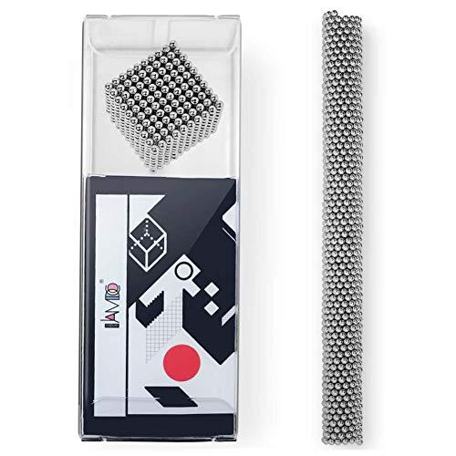 Lamdico Fidget Cube 1000 Pcs,Desk Cube for Stress Relief & Creative Inspiration Include Splitter Card and Storage Bag, 3mm ()