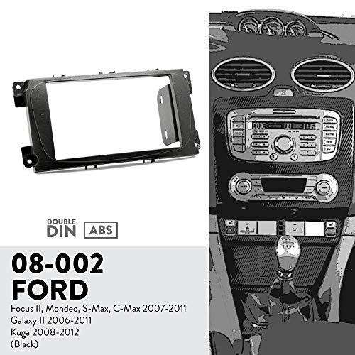 UGAR 08-002 Trim Fascia Car Radio Installation Mounting Kit for Ford Focus II, Mondeo, S-Max, C-Max 2007-2011; Galaxy II 2006-2011; Kuga 2008-2012 ()