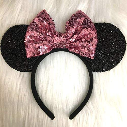 (CLGIFT Pink Mickey Ears, Rainbow Minnie Mouse Ears, Sparkly Minnie Ears, Mouse Ears, Electrical Parade)
