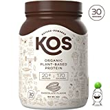 KOS Organic Plant Based Protein Powder - Raw Organic Vegan Protein Blend, 2.6 Pound, 30 Servings (Chocolate)