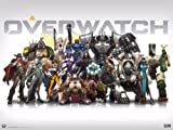 CAKEUSA Overwatch Gaming Party Birthday 1/2 Size Frosting Sheet Cake Topper Edible Image