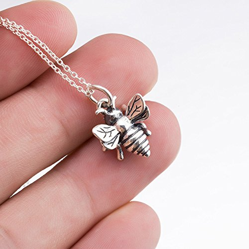 Yfn honey bee pendant 925 sterling silver queen bee bumblebee charm yfn honey bee pendant 925 sterling silver queen bee bumblebee charm 18 aloadofball Images