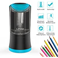 LATOW Electric Pencil Sharpener with Durable Helical Blade