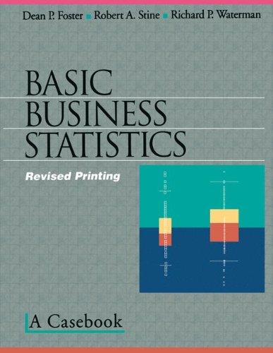 Basic Business Statistics: A Casebook (Textbooks in Matheamtical Sciences)