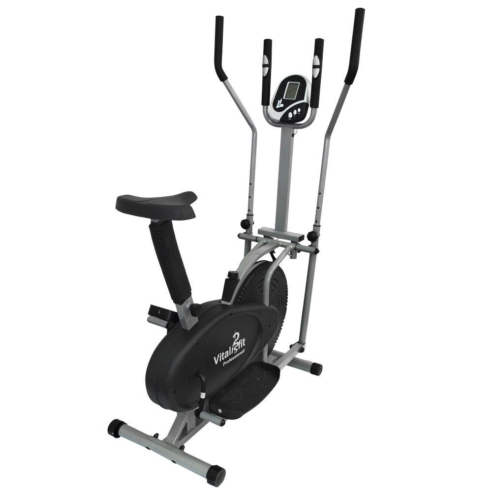 Bicicleta estática ergómetro Cross Trainer Stepper/Cross Trainer bicicleta estática ergómetro Stepper Ellipse Trainer Pulsómetro negro: Amazon.es: Deportes ...