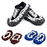 3 Pairs Mop Slippers Shoes Cover For Floor Dust Cleaning