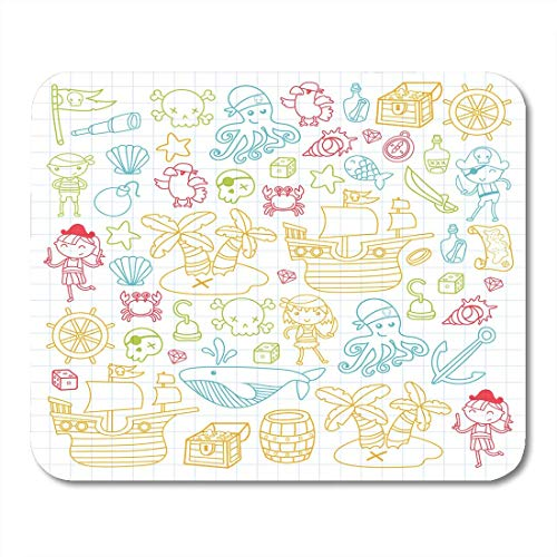 Mouse Pads Children Playing Pirates Boys and Girls Kindergarten School Preschool Halloween Party Treasure Island Mouse Pad for Notebooks,Desktop Computers Office Supplies]()