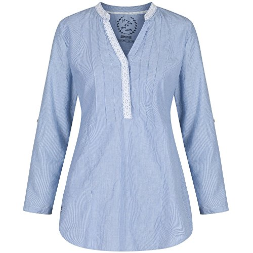 Regatta Great Outdoors - Camisa de algodón modelo Madga para mujer Deep Sea Coral