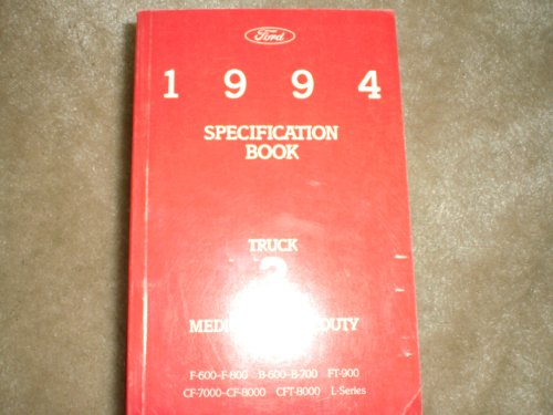 1994 Ford Specification Book Medium/heavy Duty Truck #3