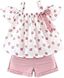 Toddler Baby Girls Clothes Ruffle Cami Polka Dot