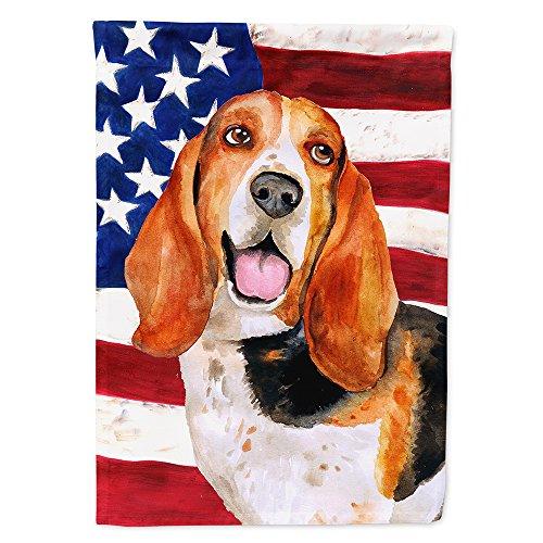 Caroline's Treasures BB9704GF Basset Hound Patriotic Decorative Outdoor Flag, Garden Size -